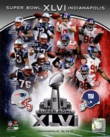 SuperBowl XLVI Match Up Composite Fine Art Print