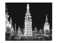 Night in Luna Park, Coney Island, NY Fine Art Print