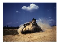 M3 Lee Tank, Training Exercises, Fort Knox, Kentucky Fine Art Print