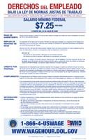 Minimum Wage Spanish Version 2012 Framed Print