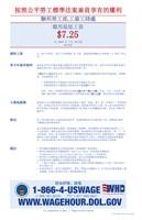Minimum Wage Chinese Version 2012 Framed Print