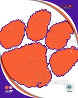 Clemson University Tigers Team Logo Fine Art Print