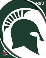 Michigan State University Spartans Team Logo Fine Art Print