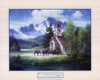 Western Church Framed Print