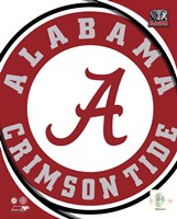 University of Alabama Crimson Tide Team Logo Fine Art Print