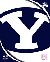 Brigham Young University Cougars Team Logo Fine Art Print