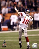 Eli Manning Super Bowl XLVI Action Fine Art Print