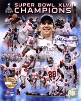 New York Giants Super Bowl XLVI Champions PF Gold - Hand Numbered Limited Edition.  8x10's 5000, Enlargements 500. Fine Art Print
