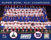New York Giants Team Photo Super Bowl XLVI Fine Art Print