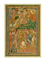An Angel Halts Abraham's Sacrifice of Isaac Fine Art Print