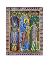 Albans Psalter: Expulsion from Paradise Fine Art Print
