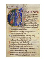 Initial C from 105th Psalm In Albani Psalter Fine Art Print