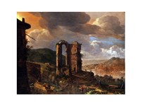 Landscape with Roman Ruin Fine Art Print
