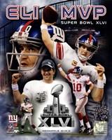 Eli Manning Super Bowl XLVI MVP Composite Fine Art Print