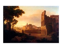 Rome, the Colosseum and the Roman Forum Fine Art Print