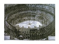 Interior of the Colosseum with niches for the Via Crucis Fine Art Print