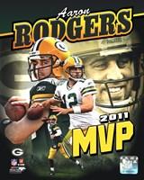 Aaron Rodgers 2011 NFL MVP Portrait Plus Fine Art Print