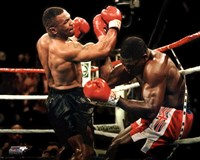 Mike Tyson 1996 Action Fine Art Print