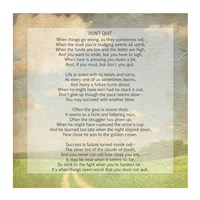 Don't Quit Poem (field) Fine Art Print