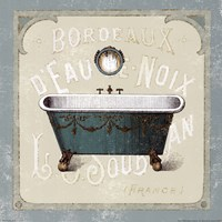 Parisian Bath IV Framed Print