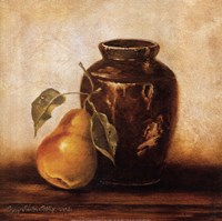 Crock with Pears Fine Art Print
