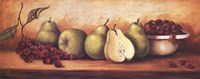 Fruit Panel with Green Pears Fine Art Print