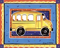 School Bus Framed Print