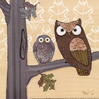 Pastel Owls IV - mini Fine Art Print