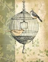Botanical Birdcage I Fine Art Print