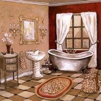 Leopard Florentine Bath Framed Print
