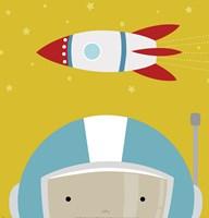 Peek-A-Boo Astronaut Framed Print