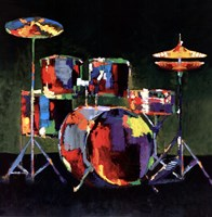Drum Set Fine Art Print