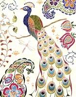 Peacock Fantasy III Fine Art Print