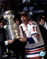 Mark Messier 1993-94 Stanley Cup Celebration Framed Print