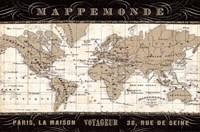 Mappemonde Fine Art Print