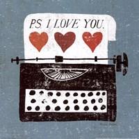 Vintage Desktop - Typewriter Fine Art Print