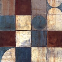 Tango Detail II - Blue Brown Fine Art Print
