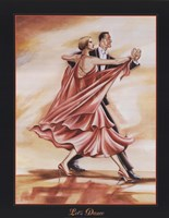 Dancers II (Red) Fine Art Print