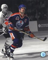 Mark Messier 1990 Stanley Cup Finals Spotlight Action Fine Art Print