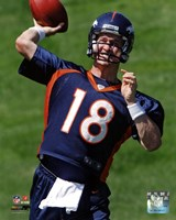 Peyton Manning 2012 Mini Camp Action Fine Art Print
