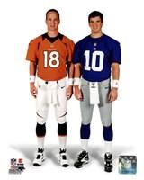 Peyton Manning & Eli Manning 2012 Posed Fine Art Print