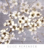 Silver Blossoms II Fine Art Print