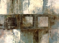 Euclid Ave Variations - Blue and Brown Fine Art Print