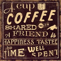 Coffee Quote I Framed Print