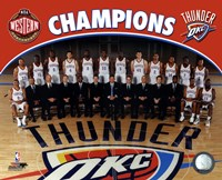 Oklahoma City Thunder 2011-12 NBA Western Conference Champions Team Photo Fine Art Print