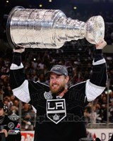 Jeff Carter with the Stanley Cup Trophy after Winning Game 6 of the 2012 Stanley Cup Finals Fine Art Print