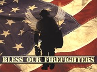 Bless Our Firefighters Fine Art Print