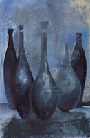 Vases in Blue II Fine Art Print