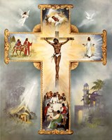 The Living Cross Framed Print