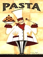 Chef Pasta - with meatballs Fine Art Print